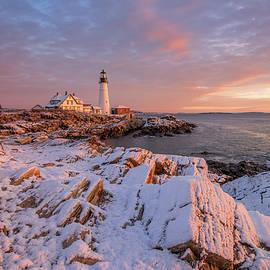 Jesse MacDonald - Winter Sunrise at Portland Head Light