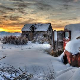 Winter Sunrise On The Old Frozen Farm by Michael Morse