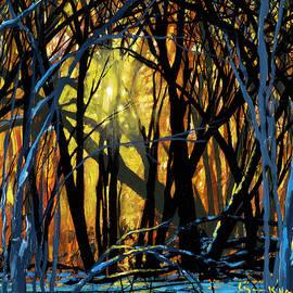 Winter Sunset In The Forest by Lynn Hansen