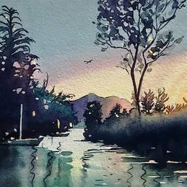 Winter Sunset on Rabbit Island by Luisa Millicent