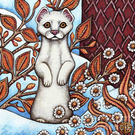 Winter Weasel by Amy E Fraser