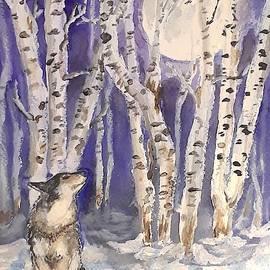 Wolf in Winter by Jennie Hallbrown