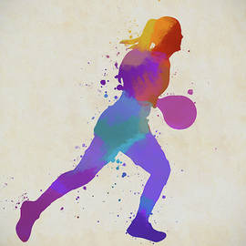 Woman Basketball Player by Dan Sproul
