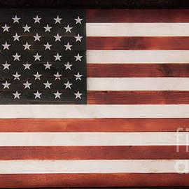 Wooden American Flag by Karen Silvestri