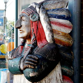 Wooden Indian by Arlane Crump
