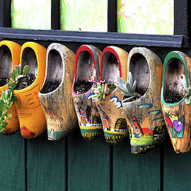 Wooden Shoe Planters by Bill Swartwout Photography