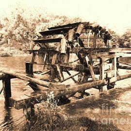 Wooden Water Wheel by Elisabeth Lucas