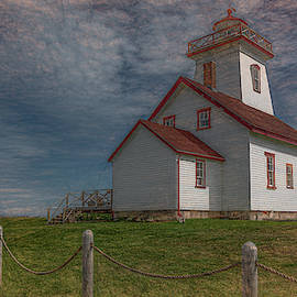 Woods Island Lighthouse, Painterly by Marcy Wielfaert