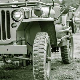 World War II Era Us Army Jeep by Edward Fielding