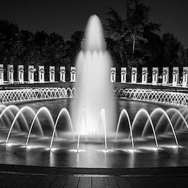 World War II Memorial Washington DC Night by Joan Carroll