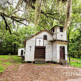 Worshiping Beneath the Moss Covered Oaks by Scott Pellegrin
