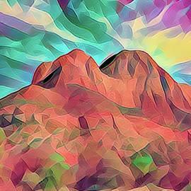 Wow Digital Art Arizona Landscape  by Chuck Kuhn