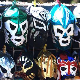 Wrestler Masks by David Resnikoff