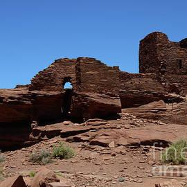 Wupatki National Monument Citadel Ruins  by Debby Pueschel