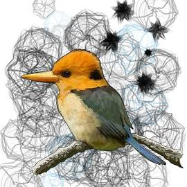 Joan Stratton - Y is for Yellow Billed Kingfisher