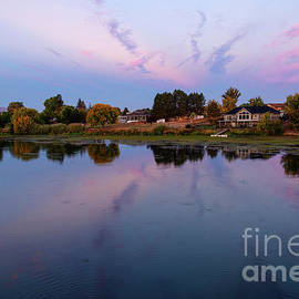 Yakima River Pastel Morning by Mike Dawson