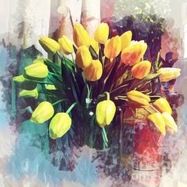 Yellow Autumn - Tulip Explosion by Miriam Danar