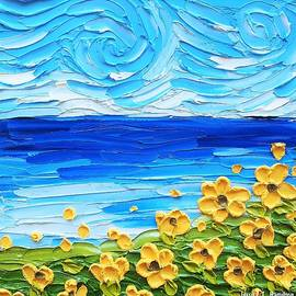 Yellow Flowers by the Sea by Jessica T Hamilton