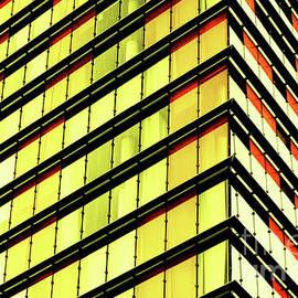 Yellow Orange Architectural Stripes by Toula Mavridou-Messer
