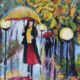 Yellow Umbrella by Vesna Martinjak