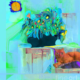 Yes Cat Nap in Sun by Zsanan Studio
