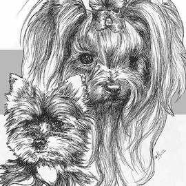 Yorkshire Terrier and Pup by Barbara Keith