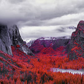 Yosemite In Red by Jon Glaser