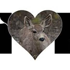 Young Doe In Heart With Little Boy Mom Big Letter by Colleen Cornelius