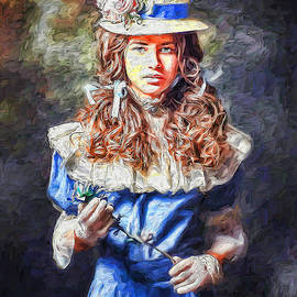 Young lady portrait 3 by Nenad Vasic