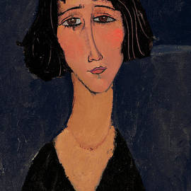 Young Woman With Rose, Margherita by Amedeo Modigliani