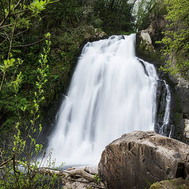 Youngs River Falls In April by Robert Potts