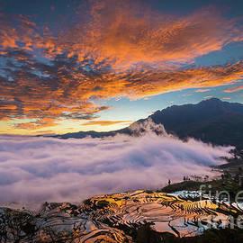 Yuanyang Sunrise by Inge Johnsson