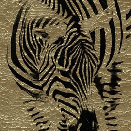 Zebra on Golden by Hal Halli