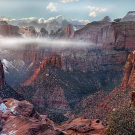 Zion Canyon Grandeur by Leland D Howard