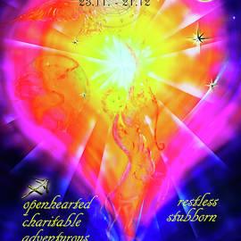 Zodiac sign Sagittarius  by Walter Zettl