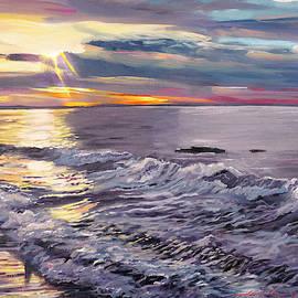 Zuma Beach Shoreline by David Lloyd Glover