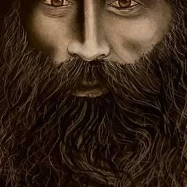 A bearded Indian hermit by Lakshmi Rajagopal