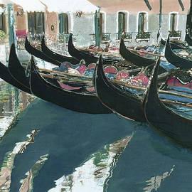 A Flotilla of Gondolas by Rosi Robinson