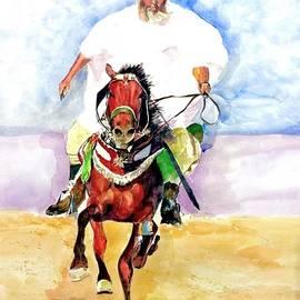 A rider by Khalid Saeed