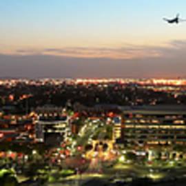 A Twilight View of Tempe and Phoenix, AZ, USA by Derrick Neill