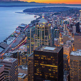 Above Seattle by Inge Johnsson
