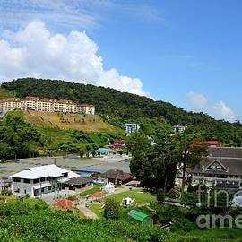 Aerial view of the Agro Technology Park MARDI Tanah Rata Cameron Highalnds Malaysia by Imran Ahmed