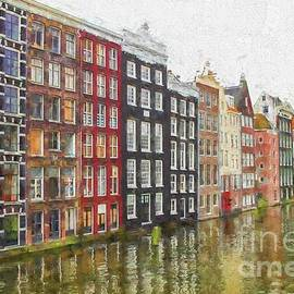 Amsterdam houses painterly by Patricia Hofmeester