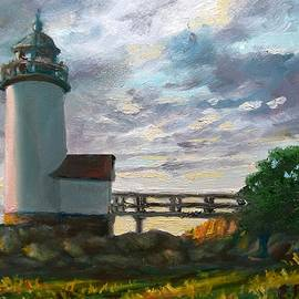 Annisquam Light Small Version by Eileen Patten Oliver