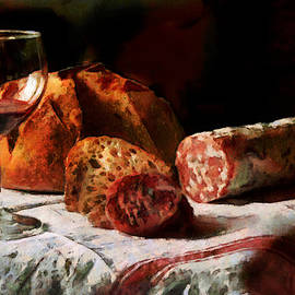 Aperitif with Bread and Sausage -  DWP2027177 by Dean Wittle