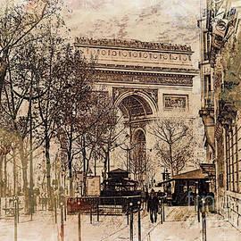 Arc de Triomphe Paris by Lynn Bolt