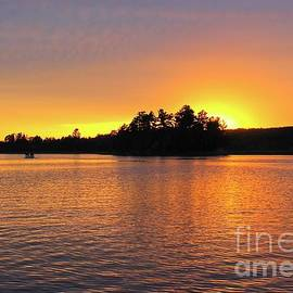 Awesome Sunset Northern Minnesota by Ann Brown