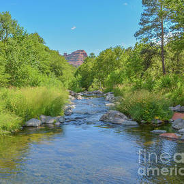 #4 Beautiful view of Oak Creek a freshwater spring in Oak Creek Canyon of Coconino National Forest. by Norm Lane