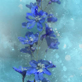 Blue Wildflowers by Michelle Meenawong