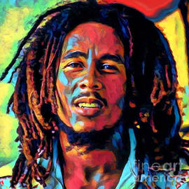 Bob Marley in color  by Carl Gouveia